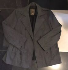 Mens Double Breasted Trench Coat Blazer Winter Slim Button Jacket Outwear Tops