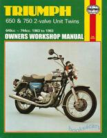 TRIUMPH 750 650 SHOP MANUAL SERVICE REPAIR HAYNES BOOK BONNEVILLE CHILTON CLYMER