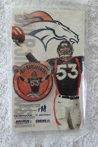 BILL ROMANOWSKI #53 DENVER BRONCOS PIN Denver Post 9 News 850 KOA (Set 28) NFL