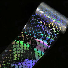 Holographic Nail Foil Laser Snake Pattern Transfer DIY Nail Art Sticker Manicure