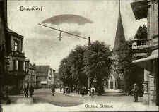 HAMBURG Bergedorf Große Strasse a.d. Kirche anno 1900 als REPRINT Ansicht AK
