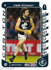 2016 Teamcoach Base Card (10) Kade SIMPSON Carlton