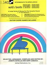 World'S Favorite Piano Solos Volume 140 Music Book-With Guitar Chord Names-New!