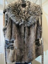 Must See GUESS Faux Fur/ Faux Leather Vest-Zip Up Front- Medium- Junior-New-Tags
