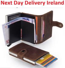 MEN Women PU Leather RFID Blocking Purse Credit Card Holder Money Wallet Blocker
