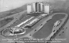Century Of Progress Exposition c1933 Postcard Chrysler Motors Exhibit