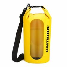 Dry Bag Waterproof Roll Top Sack for Beach Hiking Fishing Yellow 20l KastKing