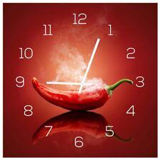 Horloge murale en verre 30x30cm Montre comme Chronographe Photo cuisine Hot