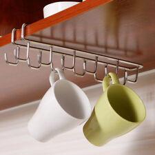Kitchen Cupboard Shelf Hanging 12Hook Mug Rack Coffee Bar Cabinet Storage Holder