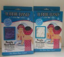 LOT OF 2 Turbie Band Head Band by Turbie Twist Purple/white