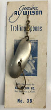 AL WILSON Old Fishing Lure TROLLING & CASTING SPOON  NO. 3B Calif. c1950's