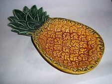 Vtg. Anekona Hawaii Ceramic Divided Relish Dish - Pineapple Design