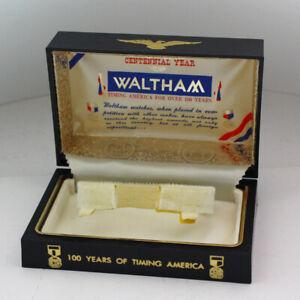 Vintage Waltham Shock Protected 100 Centennial Year Presentation Case / Box