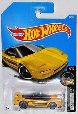 Hot Wheels New for 2017 #94 NightBurnerz #4 90 Acura NSX yellow MOC VHTF