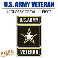 U.S. Army Veteran MEDIUM Vinyl Decal Glossy Sticker Go Army
