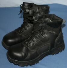 Thorogood Lace Up Safety Boots Mens 6 Womens 8 Waterproof Steel Toes Black