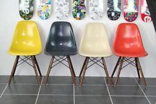 4 chaises dsw navy blue noyer walnut Eames Herman Miller vintage