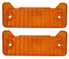 (#3055)  1968, 1969 Nova, Chevy II  Parking Light Lens Pair Amber