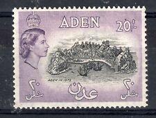 ADEN = 1958 20/- Deep Black & Deep Lilac. SG72a. Lightly Mint Hinged.