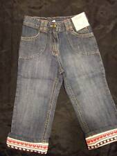 NWT ~ Gymboree WINTER SNOWFLAKE denim blue jeans w/ sweater cuffs ~ girls 2 2T