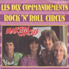Disque 45 tours MARTIN CIRCUS Les dix commandements 1977