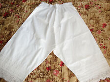 Antique Pantaloons Bloomers Embroidered Cutwork Pintucks Victorian Edwardian