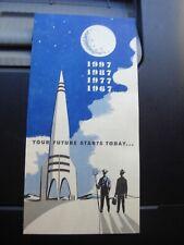 Vintage NOS SiFi Ad Mid Century Advertising NFU Insurance Broucher Rocket Ship