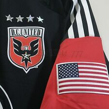 DC UNITED MLS ADIDAS AUTHENTIC ON FIELD TECH FIT SOCCER JERSEY MENS M,L/10 BLACK
