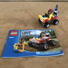 4427 Lego complete city fire atv fireman minifigure add on