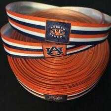 "7/8"" Auburn Tigers Striped Grosgrain Ribbon by the Yard (Usa Seller!)"