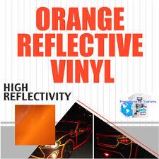 Reflective Vinyl Adhesive Cutter Sign Hight Reflectivity 24 X 25 Feet Orange