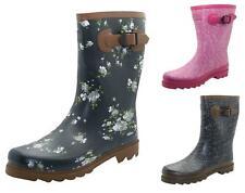 Ladies Wide Calf Wellington Boots Northwest Territory Fashion Wellies Printed