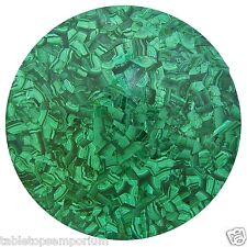 """48"""" Random Marble Dining Table Top Malachite Inlay Stone Marquetry Home Decor"""