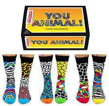 UNITED oddsocks You Animal 6 animalier calze spaiate da uomo taglia 6/11