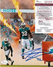 KENYAN DRAKE  MIAMI DOLPHINS   JSA AUTHENTICATED  ACTION SIGNED 8x10