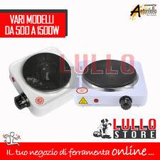 FORNELLO ELETTRICO VIAGGIO CAMPEGGIO 1 PIASTRA DA 500 A 1500W VARI MODELLI IN GH