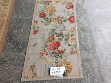 2.5'X4.5' Stunning Beautiful Gorgeous Needlepoint Area Rug Blooming Flower Ivory