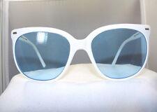"""Vintage Maui Jim """"CAT EYE"""" WHITE FRAME  /Blue Lenses"""