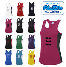 AWDis Personalised Performance Girlie Cool Vest - Running - Gym Sports Top