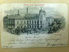 JAGERNDORF Judaica Rare Old Postcard Jewish Synagogue 1898 Austria ISRAEL