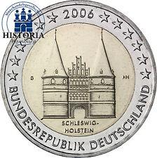 Deutschland 2 Euro Gedenkmünze 2006 bfr. Holstentor Lübeck Mzz. G
