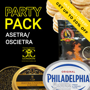 Asetra/Oscietra party-pack 30-50gr of caviar.