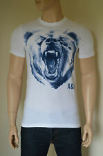 NEW Abercrombie & Fitch Bartlett Ridge White Vintage Bear Mascot Tee T-Shirt XL