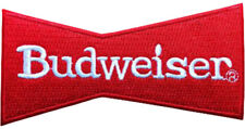 BUDWEISER BEER Red Border Badge Embroidered Patch Sew/Iron - on 10.5cm x 5cm