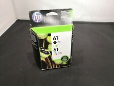 HP 61 Black/Tri-Color Combo Pack Ink Cartridges NEW Exp OCT/2017