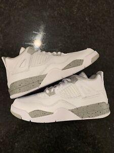 "Air Jordan 4 Retro (PS) ""White Oreo"" BQ7669-100 Size 2Y"