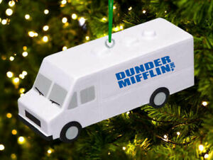 The Office TV Show Dunder Mifflin Delivery Truck Holiday Christmas Tree Ornament