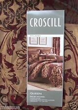 BRAND NEW CROSCILL RYLAND QUEEN SIZE 4 PIECE COMFORTER SET FLORAL BLOCK THEME