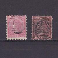 VICTORIA AUSTRALIA 1867, Sc# 115-118, CV $22, Wmk V-Crown, part set, Used
