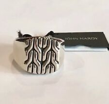 John Hardy Men's Sterling Silver Classic Chain Signet Ring Nwt $395 Size 10